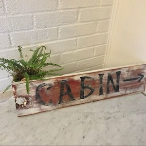 Wood Cabin Sign-Rustic Distressed Sign